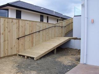 Timber Ramp and Fence
